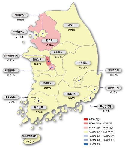 규제 부르는 수원·용인 '풍선효과'…8년 만에 최대 상승