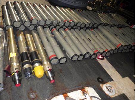 미, 아라비아해 선박에서 이란산 미사일 등 무기 압수