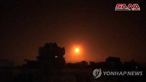 이스라엘 미사일 공격으로 시리아서 전투원 7명 사망