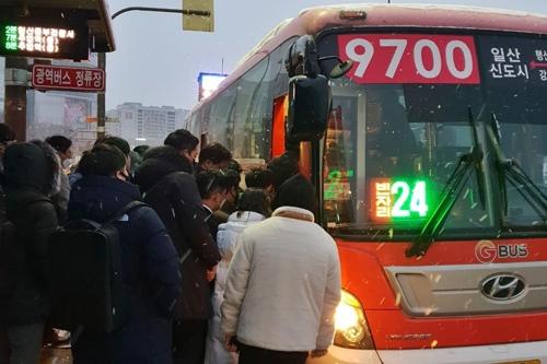 3호선 정발산역서 열차 고장으로 운행 지연…한파 속 시민 불편
