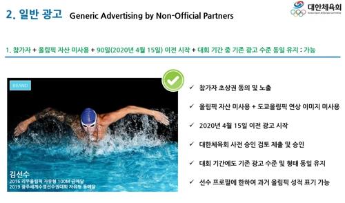 올림픽 출전 선수들, 비공식 후원사 광고에도 출연 가능