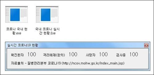 """""""'코로나19 실시간 현황' 프로그램 위장 악성코드 발견"""""""