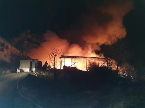 양산 비누 공장서 불…1천850만원 재산피해