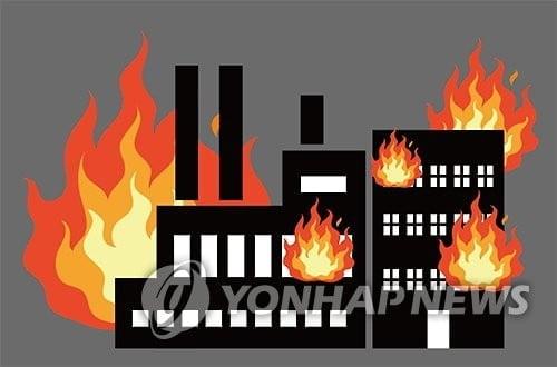 김해 화재, 주촌면 축산물센터 공사장서 `불`…대응 2단계