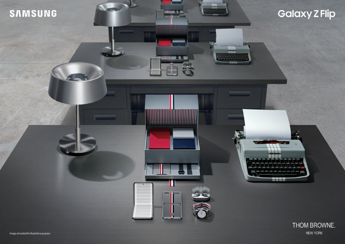 삼성 `갤럭시 Z 플립` 명품 톰브라운 입는다