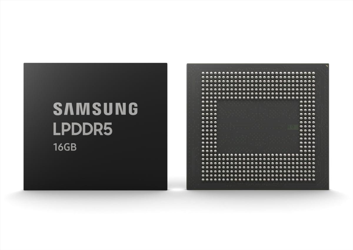삼성전자 16GB LPDDR5 모바일 D램
