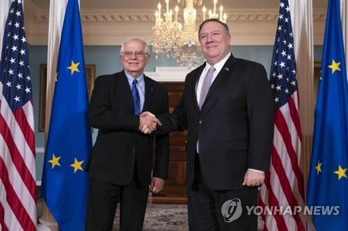 EU 외교수장, 미 국무장관과 양자관계·중동문제 논의