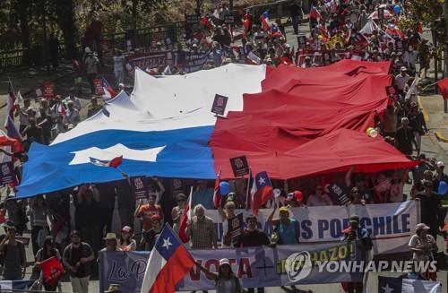 혼돈의 3월 앞둔 칠레…새 헌법 제정 찬반운동도 본격화
