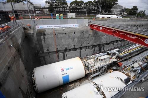 폭우에 '물바다'된 시드니 전철 터널…인근 전철역 폐쇄