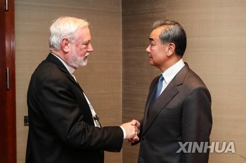 """중국-교황청 외교장관 독일서 첫 대면…""""관계 개선 상징"""""""
