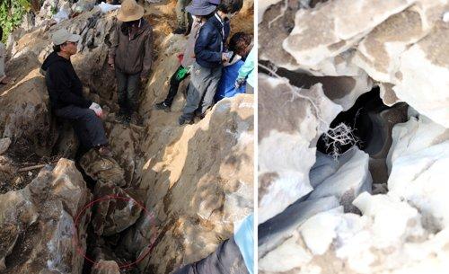 오키나와 조선인 유해발굴 인골 3점 발견하고 일단 종료