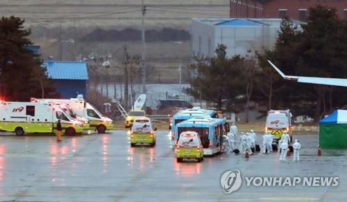 '3차 전세기' 무증상 우한교민·중국인 가족 버스로 이천 이동
