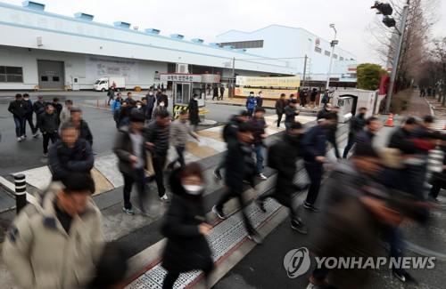 기아차 휴업 연장…소하리 18일·광주 일부 19일까지 '셧다운'