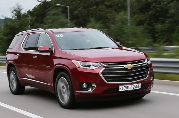 한국GM이 미국에서 수입해 판매하는 대형 SUV 쉐보레 트래버스. 사진=한국GM