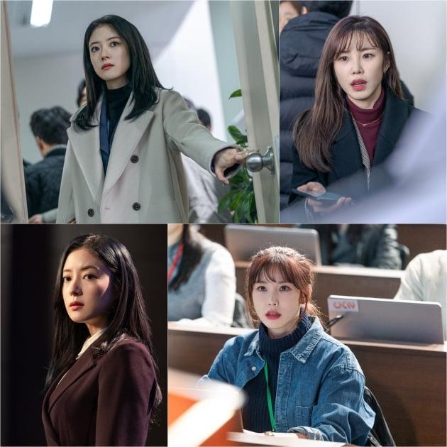 드라마 '메모리스트'의 이세영(왼쪽)과 전효성/ 사진제공=tvN