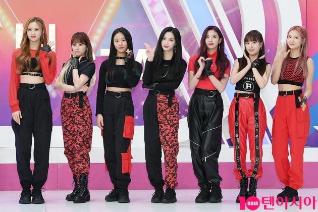 그룹 체리블렛 메이(왼쪽부터), 보라, 채린, 지원, 유주, 해윤, 레미