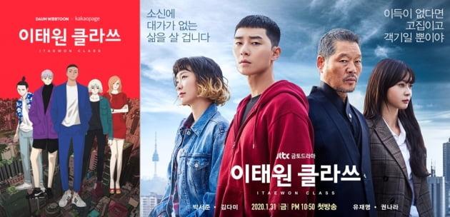 동명의 웹툰 원작을 바탕으로 제작된 JTBC 드라마 '이태원 클라쓰'/사진=각사
