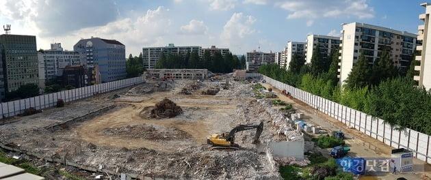 서울 강남 한 재건축 단지의 철거 당시 모습. 전형진 기자