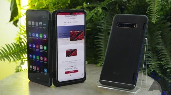 미국에서 출시된 LG V60 씽큐 5G/사진=안드로이드 폴리스 캡처