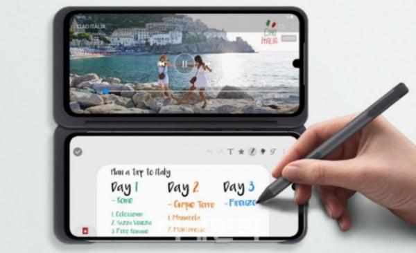 LG V60 씽큐 5G/사진=NTT 도코모 홈페이지 캡처