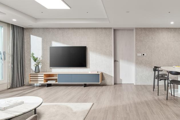 대림산업 혁신 평면 플랫폼 C2 HOUSE의 거실 기준 디자인