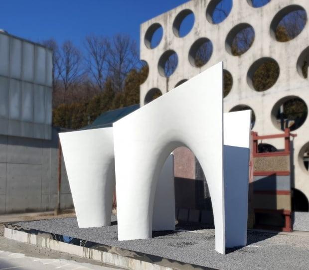 높은 난이도의 시공능력이 필요한 비정형 건축 시공(자료 현대엔지니어링)