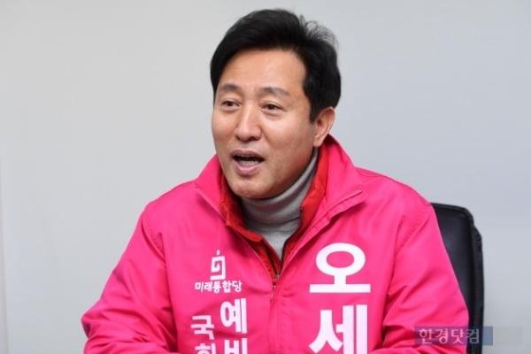 미래통합당 오세훈 후보가 18일 오후 한경닷컴과 인터뷰하고 있다. 사진=최혁 한경닷컴 기자 chokob@hankyung.com