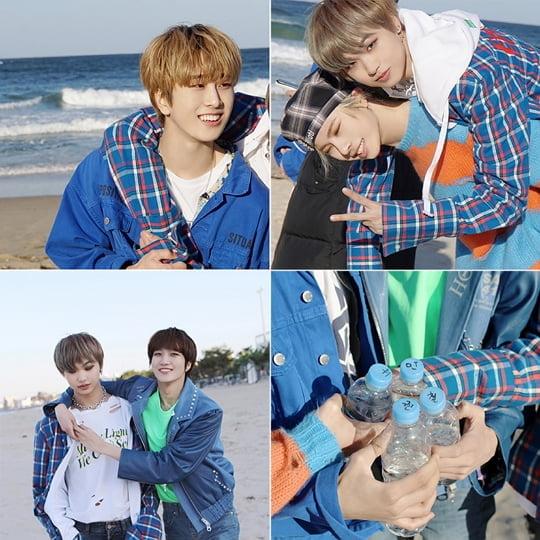 뉴키드, BTS 앨범 자켓 촬영지에서 ON 커버댄스 촬영 비하인드 공개 (사진=SNS)