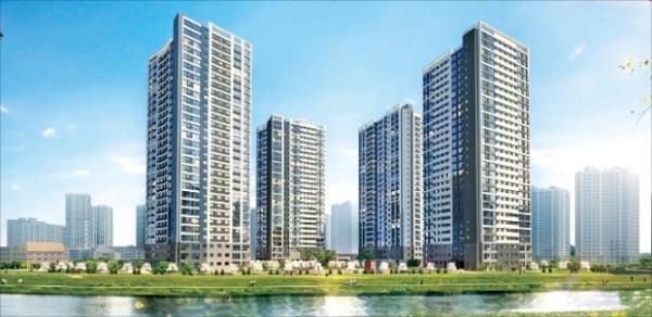 우미건설이 인천에 분양하는 '검단신도시 우미린 에코뷰' 투시도. 우미건설 제공