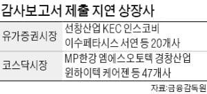 선창산업·케어젠…감사보고서 제출 안한 상장사 60여곳 달해