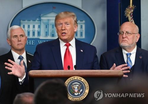 """트럼프 """"미국行 출국 더해 입국때도 검사""""…한국·이탈리아 대상(종합2보)"""