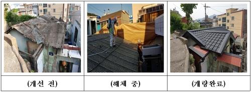 부산 슬레이트 지붕 철거사업 1천200가구…축사·창고도 지원