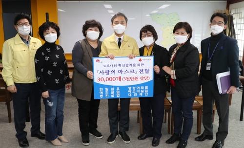 """마스크 3만장 기증한 전주 섬유업체들…""""소외계층에 써달라"""""""