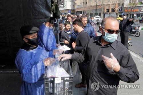 이란 코로나19 일일 사망 일주일째 증가…총 853명 사망