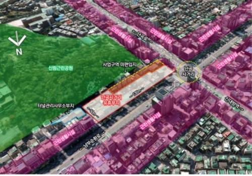 터널 위 땅에 공공주택 280호…서울 관악구 난곡사거리에 조성