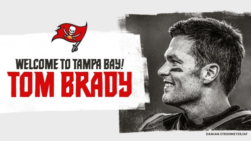 NFL 최고 쿼터백 브래디, 탬파베이와 2년간 622억원 계약