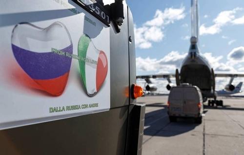 러시아, 코로나19 덮친 이탈리아에 전문가·장비 긴급 지원