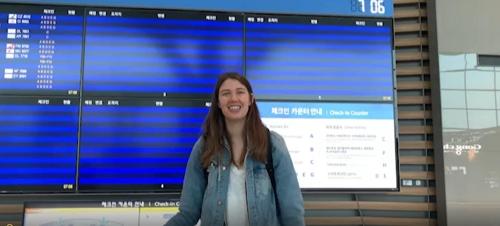 """여자배구 GS칼텍스 러츠, 미국으로 귀국…""""또 만나요"""""""