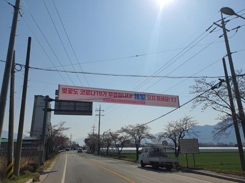 """""""섬진강 벚꽃 구경 내년에 오세요"""" 사회적 거리두기 호소"""