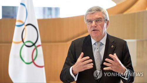 """IOC 위원장, 도쿄올림픽 새 일정 관련 """"모든 옵션 논의"""""""