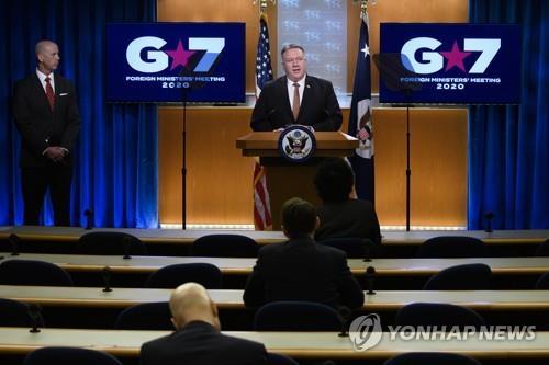 폼페이오, G7에 북 비핵화 단합강조…중엔 코로나19 연일 대립각(종합)