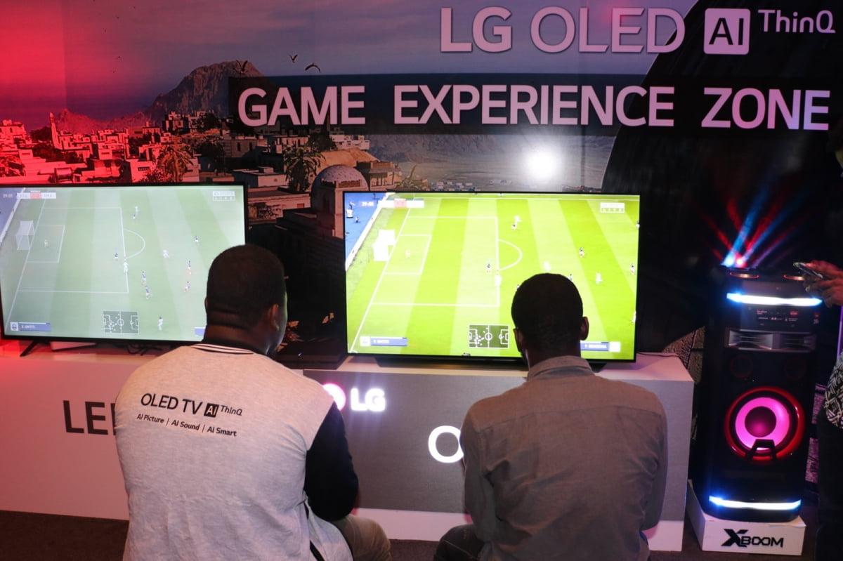 LG전자가 지난 주말 나이지리아 라고스 지역에서 LG 올레드 TV 게이밍 챌린지를 열었다.