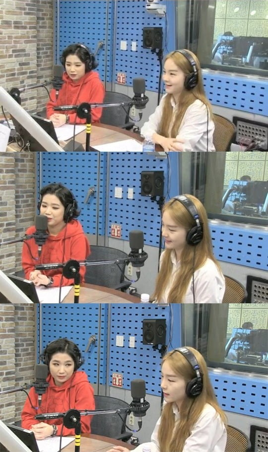 가수 안예은(왼쪽), 국악인 송소희. /사진=SBS 파워FM '최화정의 파워타임' 방송 캡처
