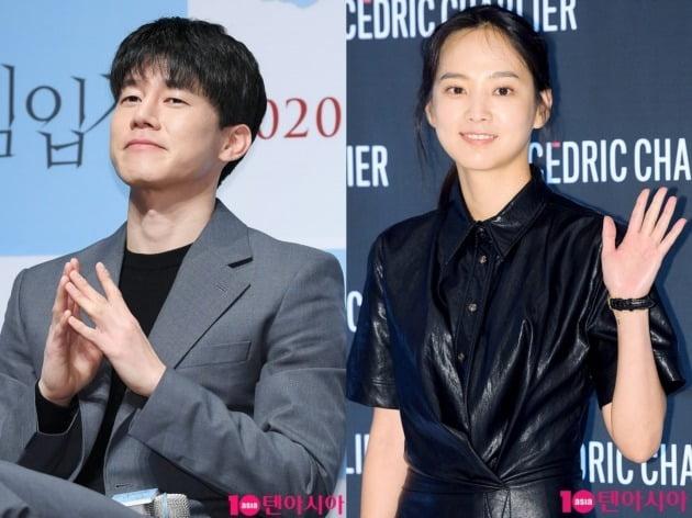 배우 김무열(왼쪽)과 윤승아. /텐아시아DB