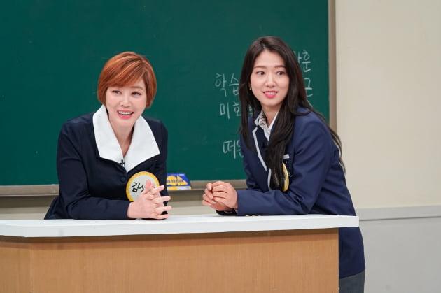 배우 김성령(왼쪽)과 박신혜/ 사진=JTBC 제공