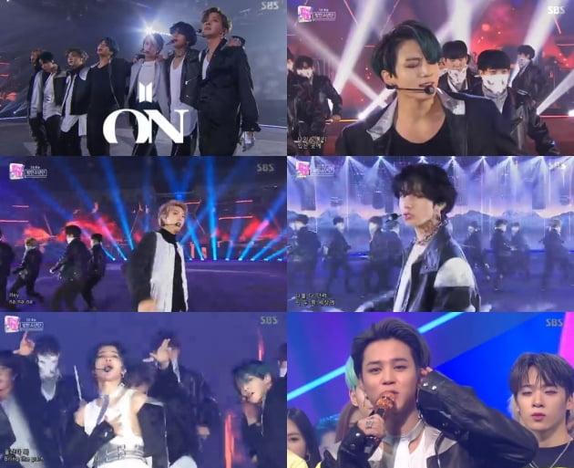 '인기가요' 방탄소년단 / 사진=SBS 방송화면 캡처
