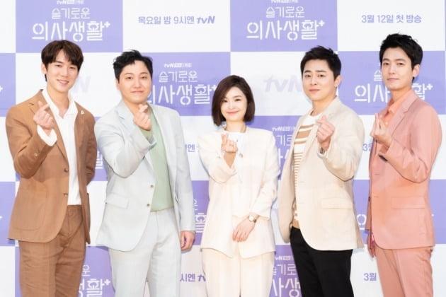 배우 유연석(왼쪽부터), 김대명, 전미도, 조정석, 정경호./사진제공=tvN