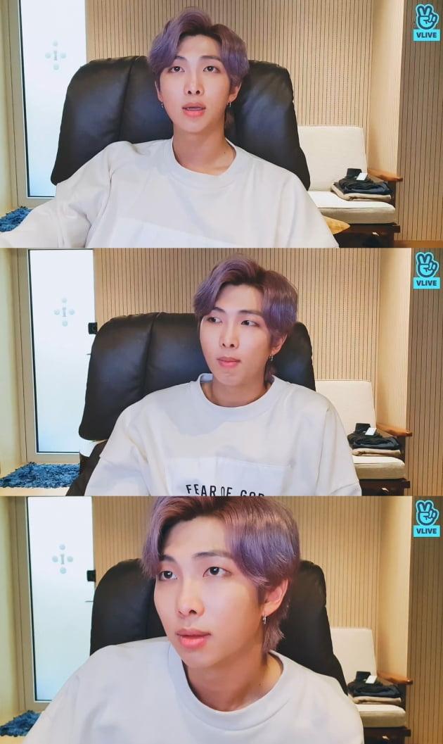 그룹 방탄소년단의 RM/사진= 네이버 V라이브 캡처