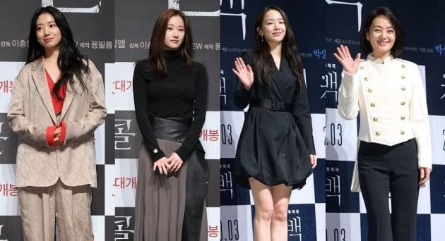 영화 '콜'의 배우 박신혜, 전종서, '결백'의 신혜선, 배종옥./ 사진=텐아시아DB