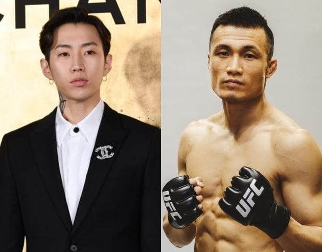 가수 박재범(왼쪽) UFC 선수 정찬성 / 사진=텐아시아DB, AOMG 제공
